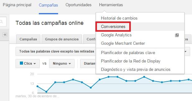 conversiones en google adwords