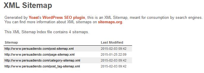 Sitemap.xml WordPress SEO by Yoast