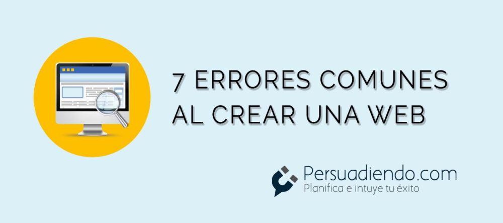 7 errores comunes al crear una web