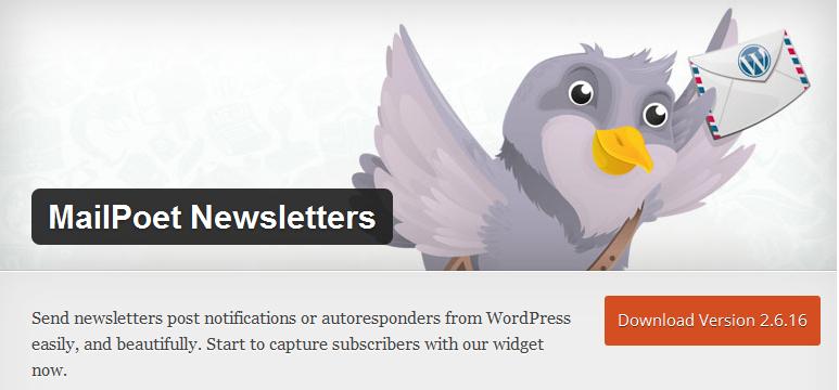 MailPoet Newsletter, plugin para enviar correos electrónicos