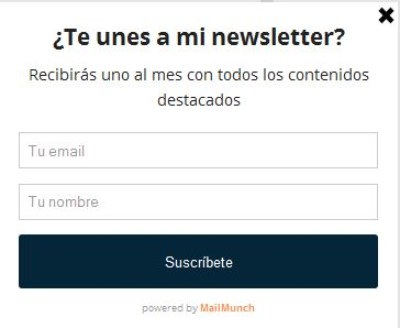 Plugin Mailmunch: captación de registros blog