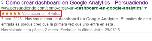 Plujgin Kk Star Ratings valoraciones en SERPs