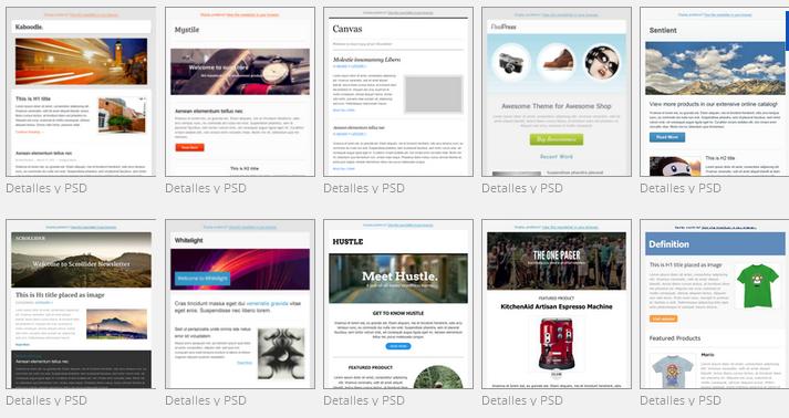 Temas para crear newsletter con plugin MailPoet de WordPress