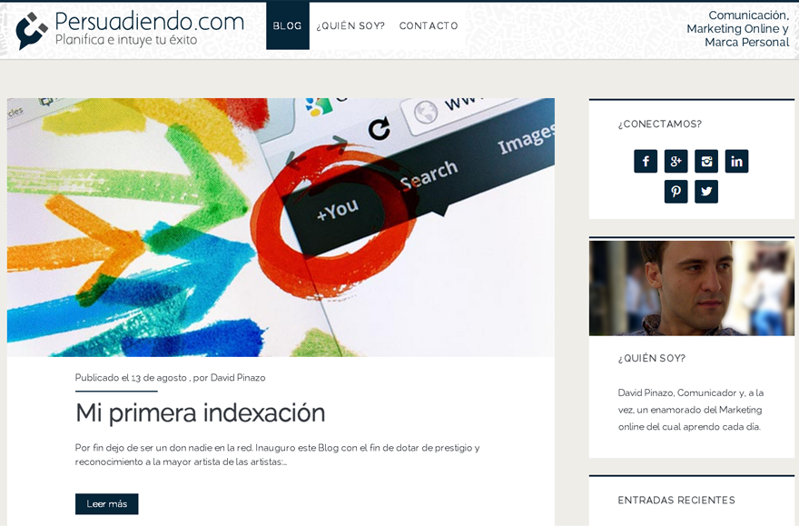 Theme Ignite. Tema instalado en WordPress de Persuadiendo