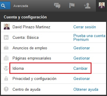 Cómo cambiar el idioma de mi perfil de LinkedIn