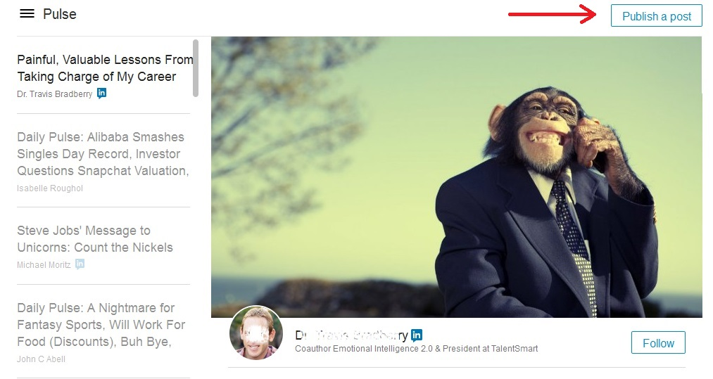 Cómo publicar un artículo en la plataforma PULSE de LinkedIn