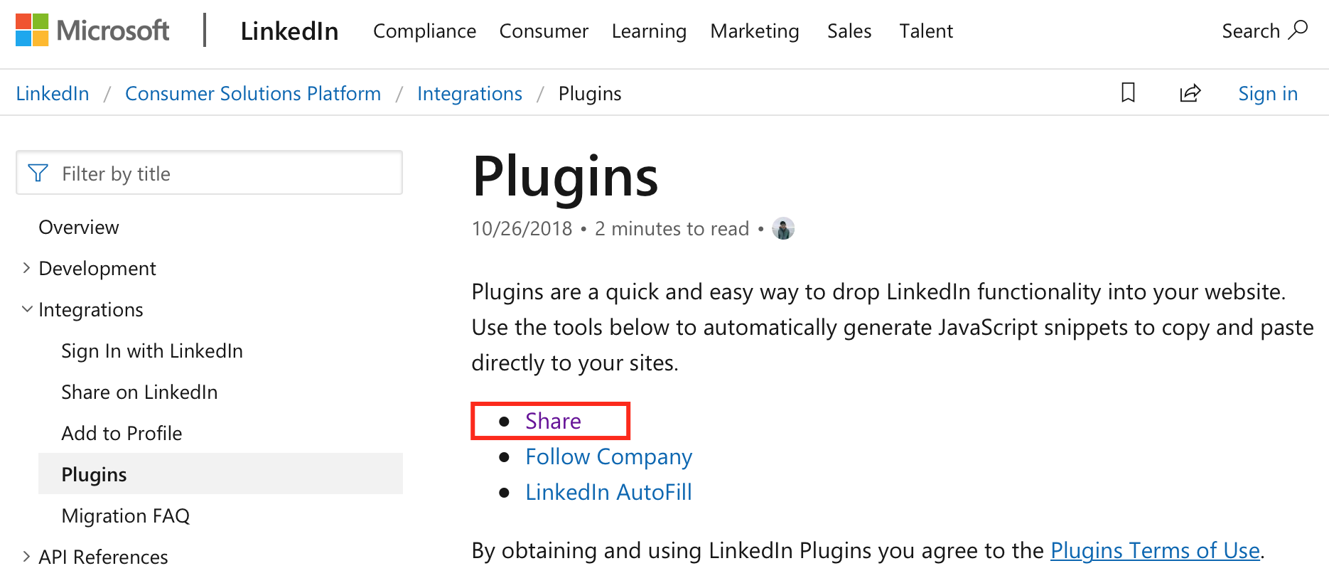Cómo insertar en mi web el icono de LinkedIn para compartir contenido