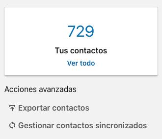 Cómo exportar contactos de mi perfil de LinkedIn