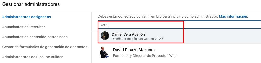 Cómo añadir un administrador en la página de empresa de LinkedIn