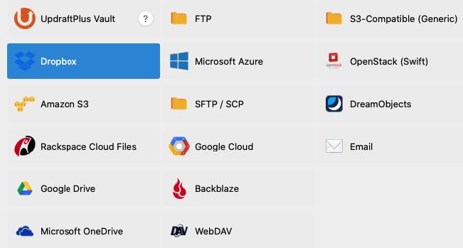Almacenamiento externo para guardar copias de seguridad con UpdraftPlus