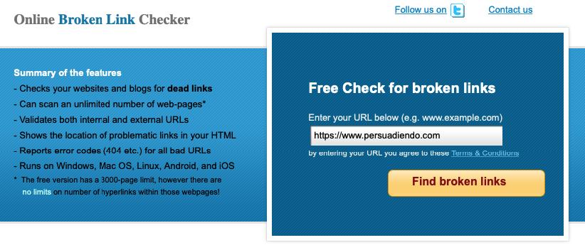 Comprobar enlaces rotos con Broken Link Checker
