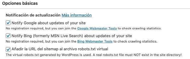 Notificar a los motores de búsqueda al crear contenidos en nuestra web
