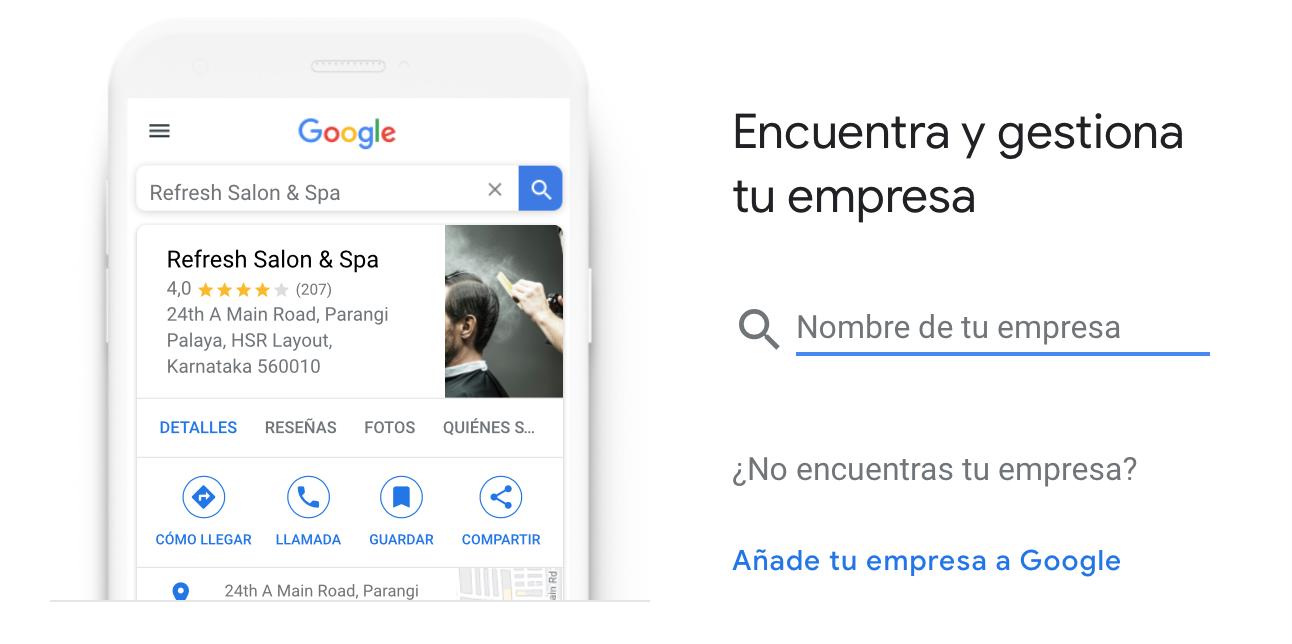 Cómo añadir mi empresa a Google