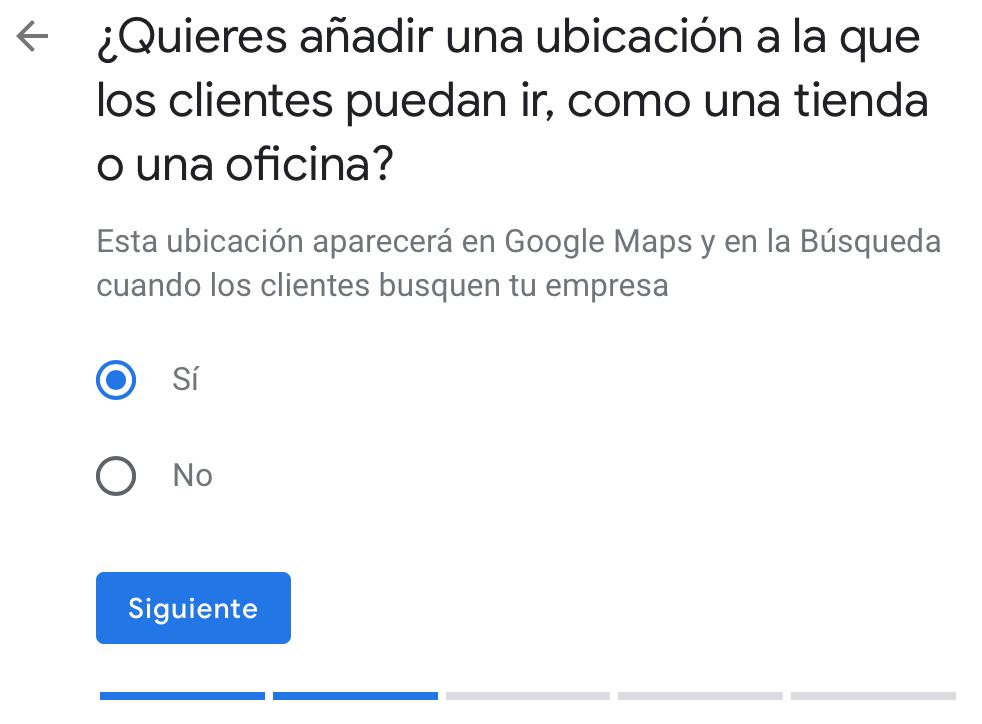 Añadir ubicación de mi negocio en Google My Business
