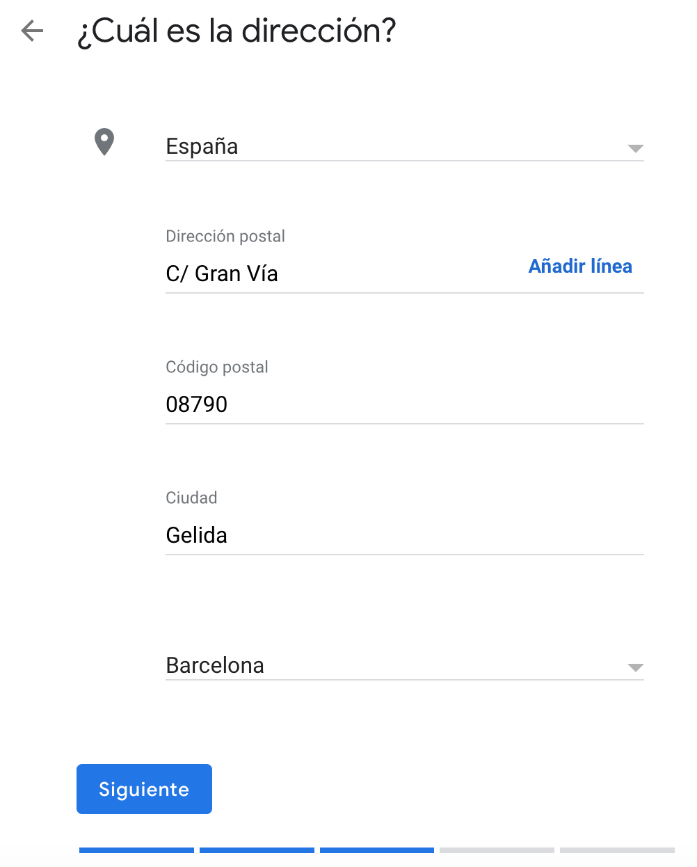 Dirección postal de mi negocio en Google My Business