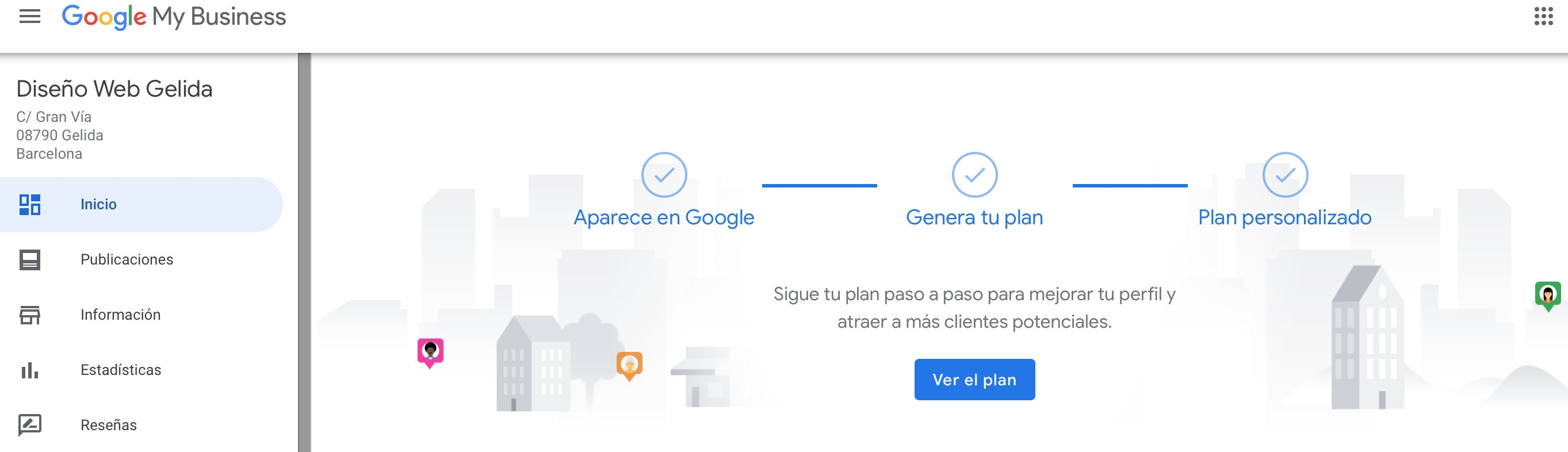 Ficha creada de Google My Business