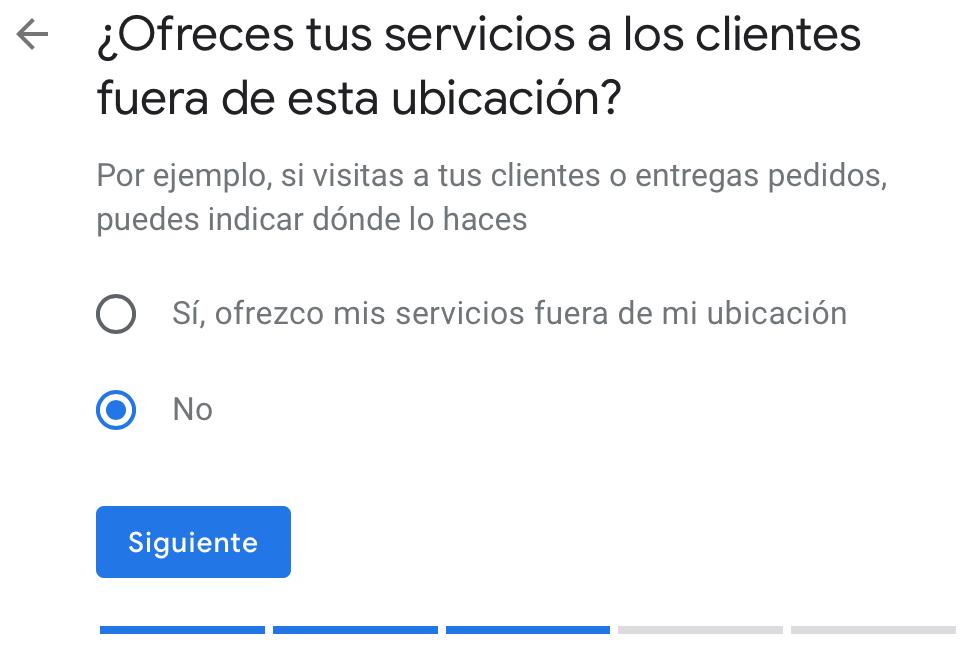 Ubicación de mis servicios en Google My Business