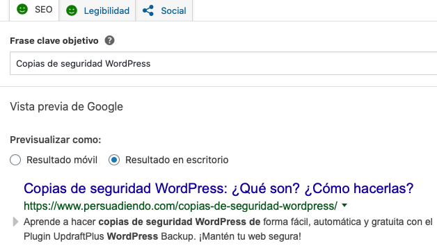 Optimizar metadatos con Yoast SEO