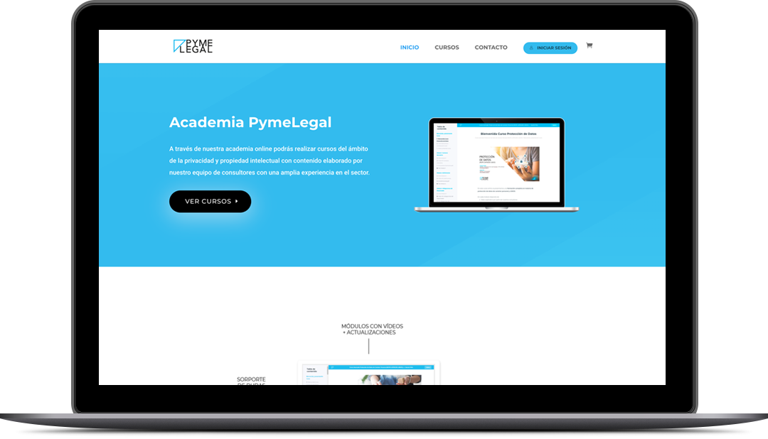 Diseño Web Academia PymeLegal