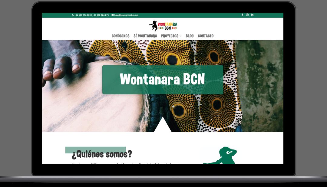 Diseño Web asociación sociocultural Wontanara BCN
