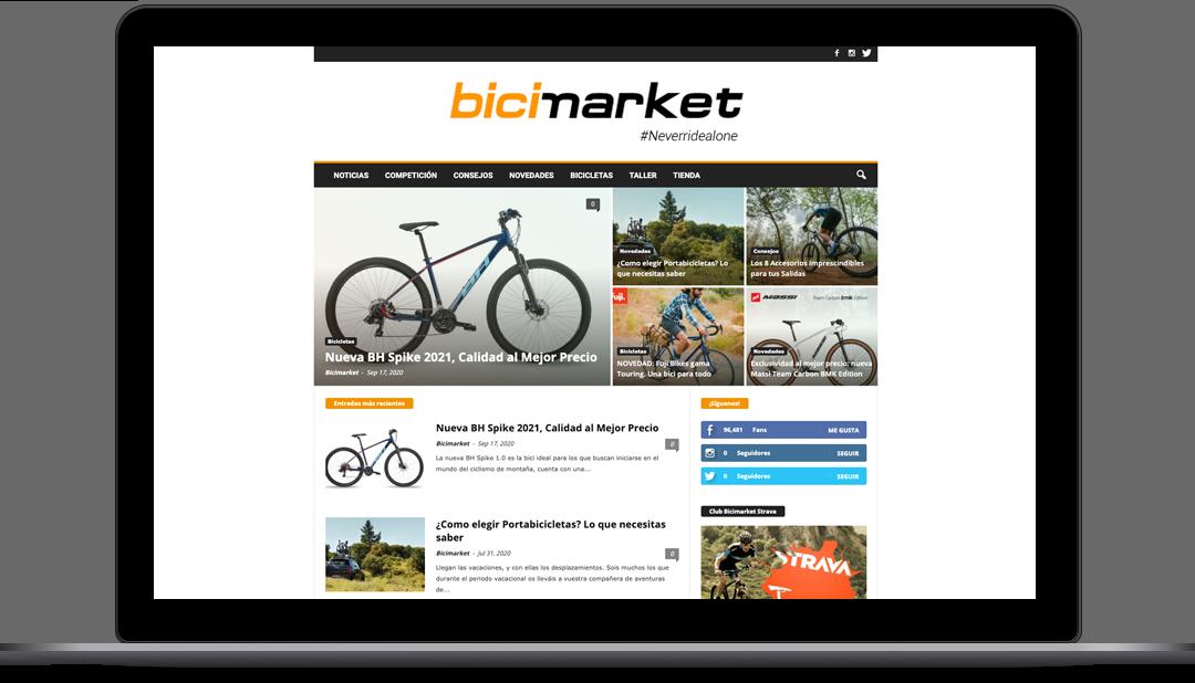 Diseño Web Blog de ciclismo Bicimarket