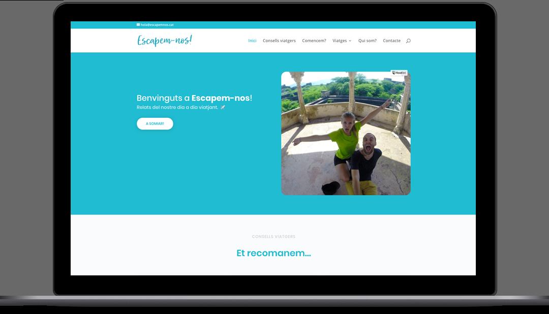 Diseño Web Blog de viajes y escpadas