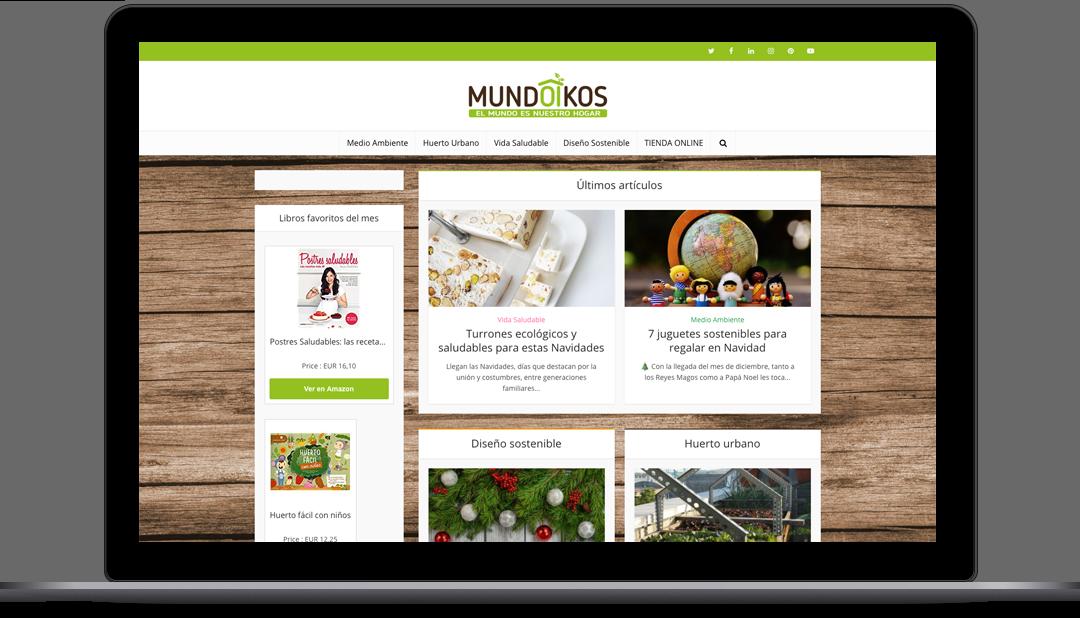 Diseño Web Blog de Mundoikos