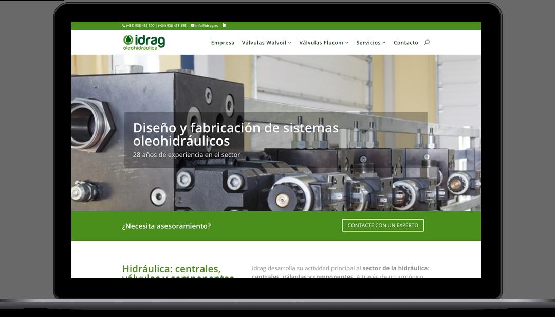 Diseño web Idrag