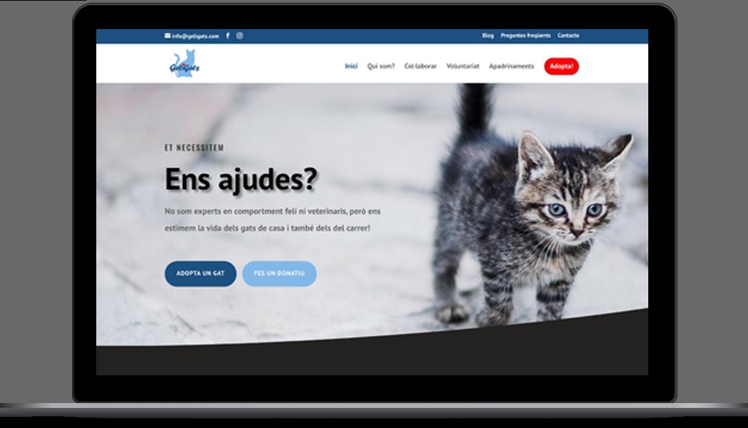 Diseño Web Protectora de animales Geligats