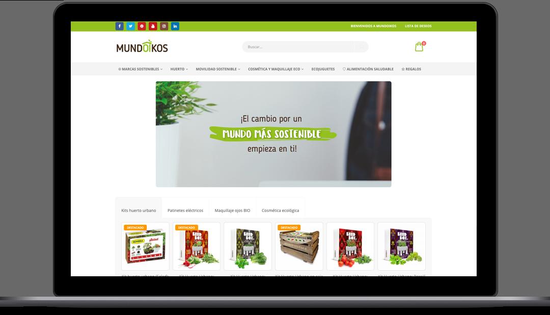 Diseño Web tienda online Mundoikos