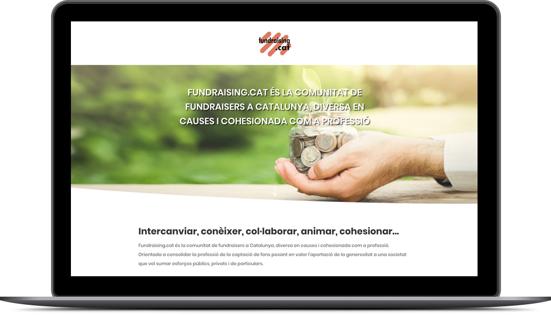 Diseño Landing Page Fundraising.cat