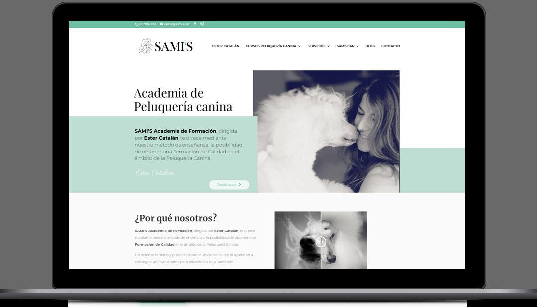Webmaster Academia Peluquería Canina SAMI's