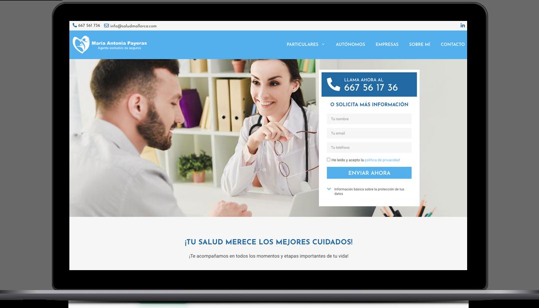 Diseño Web Agente exclusivo de Sanitas. Seguros médicos