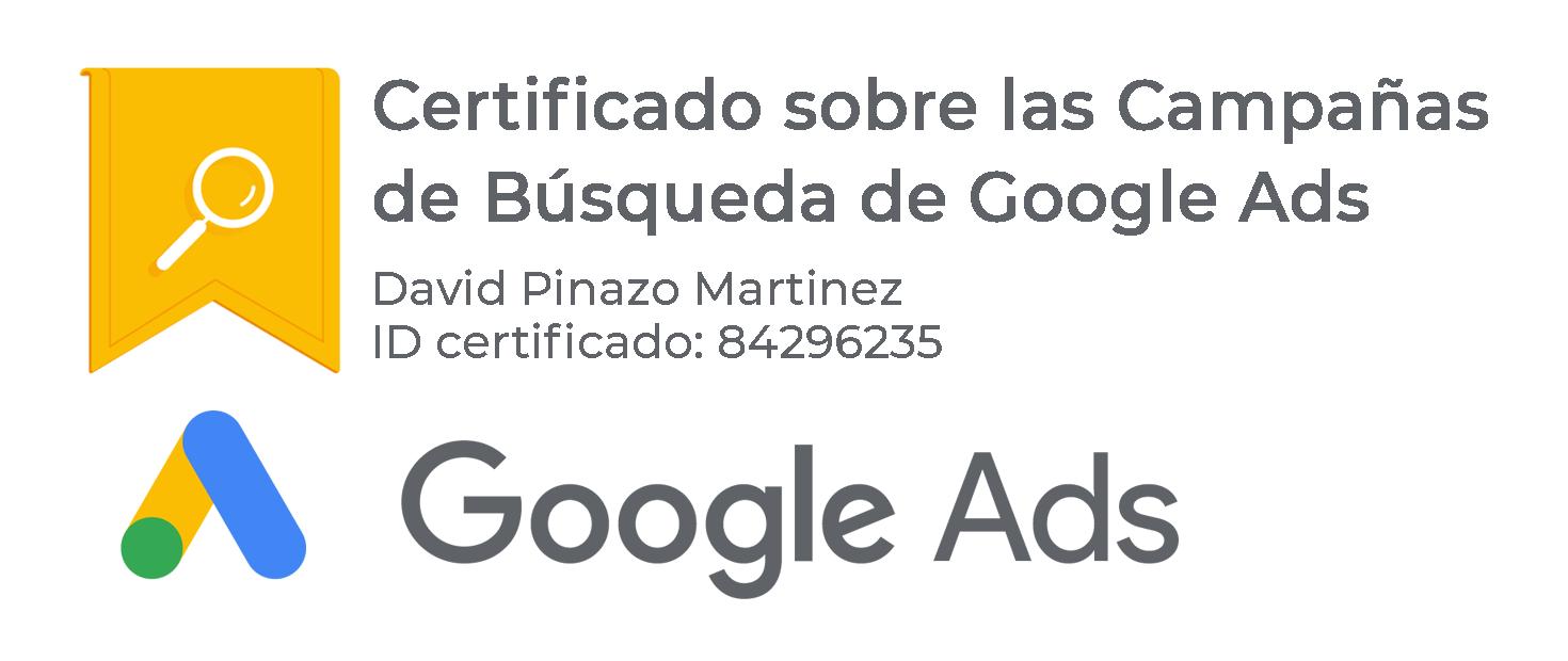 Certificado Google Ads