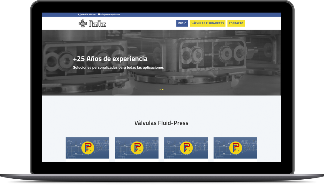 Diseño web NeotecSpain